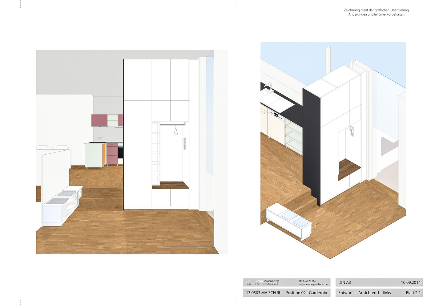 k che und garderobe realisiert 2014 jan martin n rnberg. Black Bedroom Furniture Sets. Home Design Ideas